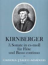 Johann Philipp Kirnberger - 3. Sonate in Es-Moll für Flöte und B.C. - Partition - di-arezzo.fr