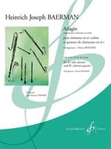 Adagio pour Clarinette Solo et Quatuor de Clarinettes laflutedepan.com