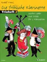 Die Fröliche Klarinette Trioheft 2 - Rudolf Mauz - laflutedepan.com