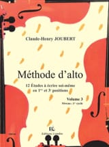 Claude-Henry Joubert - Méthode d'Alto Volume 3 - Partition - di-arezzo.fr