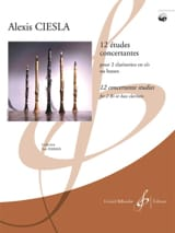 12 Etudes Concertantes Alexis Ciesla Partition laflutedepan.com