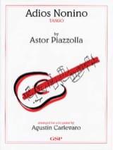 Adios Nonino Astor Piazzolla Partition Guitare - laflutedepan.com