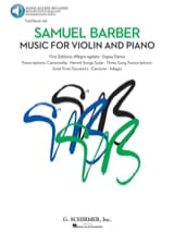 Samuel Barber - Music for Violin and Piano - Sheet Music - di-arezzo.com