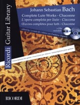 BACH - Oeuvres Complètes Pour Luth - Chaconne - 2 CD Inclus - Partition - di-arezzo.fr