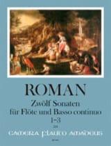 12 Sonates - Volume 1 Johan Helmich Roman Partition laflutedepan