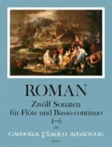 12 Sonates - Volume 2 Johan Helmich Roman Partition laflutedepan.com