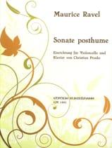 Maurice Ravel - Sonata póstuma - Partitura - di-arezzo.es