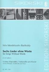 MENDELSSOHN - 6 Lieder Ohne Worte - Partition - di-arezzo.fr