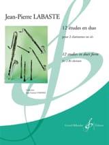 12 études en duo Jean-Pierre Labaste Partition laflutedepan.com