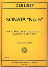 DEBUSSY - Sonata N ° 5 - Sheet Music - di-arezzo.co.uk