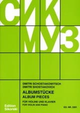 CHOSTAKOVITCH - Albumstücke - Partition - di-arezzo.fr