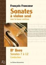 François Francoeur - Sonates à violon seul avec la basse continue - 2e livre - 2e partie - Partition - di-arezzo.fr