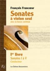 Sonates à violon seul avec la basse continue - 1er livre laflutedepan.com