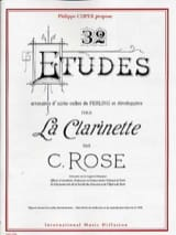 32 études CD inclus Cyrille Rose Partition Clarinette - laflutedepan
