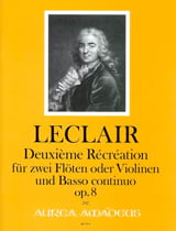 Deuxième Récréation op 8 fur 2 Floten und Bc. - laflutedepan.com