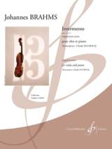 Intermezzo, op 117 n° 1 BRAHMS Partition Alto - laflutedepan.com