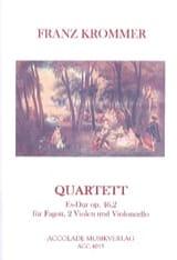 Franz Krommer - Quatuor en Mib Majeur, op. 46 n° 2 - Partition - di-arezzo.fr