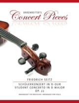 Concerto en ré majeur, op. 22 Friedrich Seitz laflutedepan.com