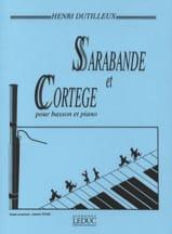 Sarabande et Cortège Henri Dutilleux Partition laflutedepan.com