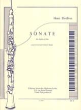 Sonate pour Hautbois et Piano Henri Dutilleux laflutedepan.com