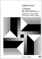 Cantique de Jean Racine (version avec orgue) - laflutedepan.com