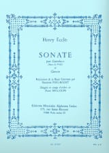 Henry Eccles - Sonata for double bass and harpsichord - Sheet Music - di-arezzo.co.uk