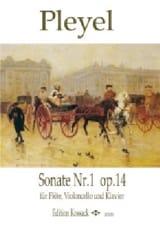 Sonate N° 1 op. 14 Ignaz Pleyel Partition Trios - laflutedepan.com