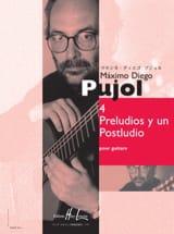Maximo Diego Pujol - 4 Preludios y un Postludio - Partition - di-arezzo.fr