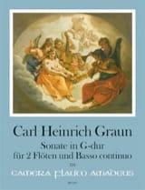 Carl Heinrich Graun - Sonate en Sol Majeur - Partition - di-arezzo.fr