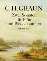 Deux Sonates Carl Heinrich Graun Partition laflutedepan.com