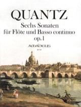 Six sonates op. 1 Johann Joachim Quantz Partition laflutedepan.com