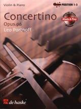 Concertino Opus 96 - Leo Portnoff Partition Violon - laflutedepan.com
