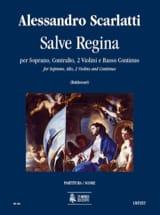 Alessandro Scarlatti - Salve Regina pour Soprano, Alto, 2 violons et continuo - Score - Partition - di-arezzo.fr