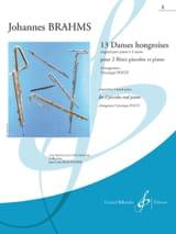 13 danses hongroises - Cahier 1 Johannes Brahms laflutedepan.com