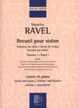 Maurice Ravel - Collection for violin - Volume 1 - Sheet Music - di-arezzo.co.uk