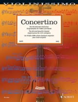 Concertino Partition Violon - laflutedepan.com