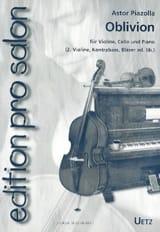 Oblivion - Astor Piazzolla - Partition - Trios - laflutedepan.com