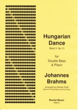 Johannes Brahms - Hungarian Dance (volume 3, n° 13) - Partition - di-arezzo.fr