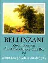 12 sonates pour flûte à bec alto et basse continue op. 3, vol 1 : 1-3 laflutedepan