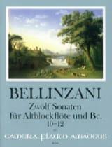 12 Sonates pour flûte à bec alto et BC op. 3, vol 4 : 10-12 laflutedepan