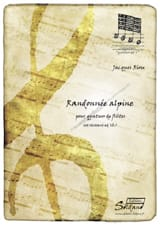 Randonnée alpine - Jacques Riou - Partition - laflutedepan.com