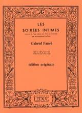Elégie Op. 24 Gabriel Fauré Partition Violon - laflutedepan.com