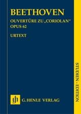 Ouverture Coriolan opus 62 BEETHOVEN Partition laflutedepan.com