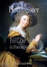 Trio n° 3 - C-Dur Franz Anton Hoffmeister Partition laflutedepan.com