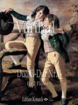 Duo G Dur Nr. 1 Johann Baptist Vanhal Partition laflutedepan.com