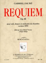 Gabriel Fauré - Requiem op. 48 - Version 1893 - Conducteur - Partition - di-arezzo.fr