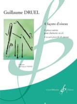 Quatre façons d'oiseau - Clarinette Guillaume Druel laflutedepan.com
