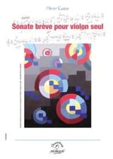 Sonate brève Olivier Kaspar Partition Violon - laflutedepan.com