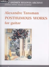 Posthumous works Alexandre Tansman Partition Guitare - laflutedepan