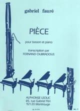 Pièce Fauré Gabriel / Oubradous Fernand Partition laflutedepan.com